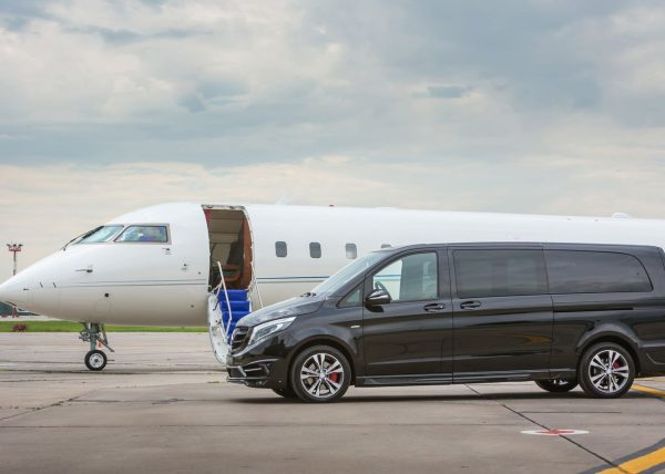 Private Jet & Mercedes V-Class